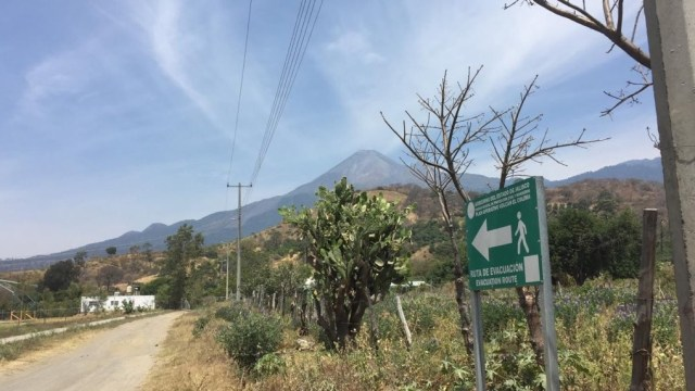 Foto: Volcán de Fuego de Colima, 27 de abril 2019. Twitter @PCJalisco