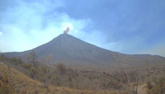 Volcán de Fuego de Colima registra pequeña explosión