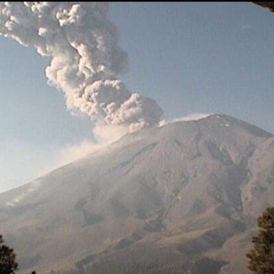 Volcán Popocatépetl registra explosiones con ceniza en plena contingencia ambiental por contaminación