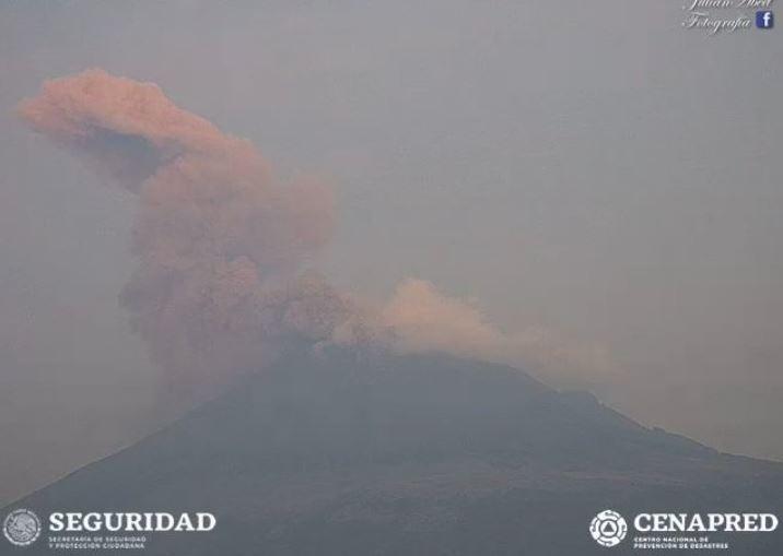 Foto: A las 06:38 horas de este sábado, el volcán Popocatépetl registró una exhalación con contenido de ceniza, 18 mayo 2019