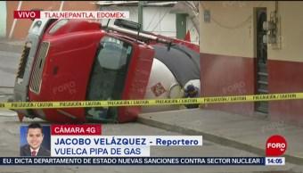 FOTO: Vuelca pipa de gas en Tlalnepantla, Edomex, 4 MAYO 2019