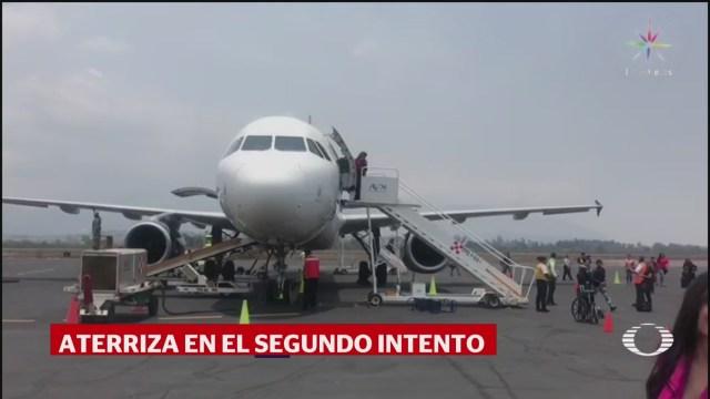 Foto: Vuelo Amlo Reporta Problemas Aterrizar Tepic 28 Mayo 2019