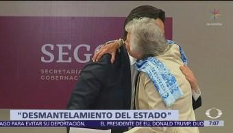 Zoé Robledo se despide de Olga Sánchez Cordero