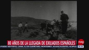 Foto: 80 Años Llegada Exiliados Españoles México 13 Junio 2019