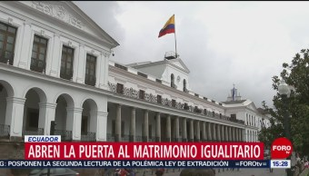 FOTO: Abren la puerta al matrimonio igualitario en Ecuador