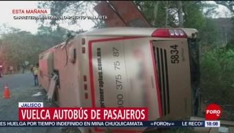FOTO: Accidente de autobús deja 14 lesionados en Jalisco, 16 Junio 2019