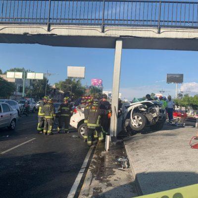 Se registra aparatoso accidente en el Viaducto de la CDMX
