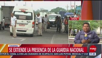 Foto: Acciones de la Guardia Nacional se extienden en Chiapas