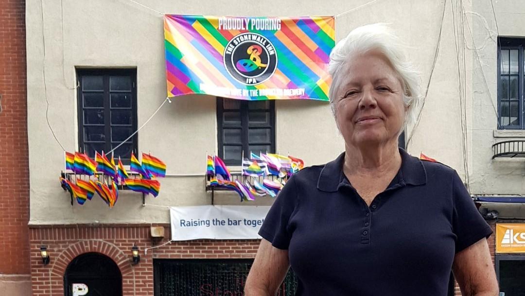 Foto: La activista estadounidense Ann Northrop, 27 de junio de 2019, Nueva York