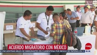 """FOTO: Acuerdo migratorio incluye a México como 'tercer país seguro"""": Trump, 15 Junio 2019"""
