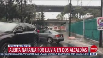 FOTO: Alerta naranja por lluvia en dos alcaldías de la CDMX
