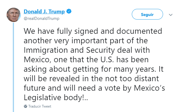 Foto: Amenaza Trump nuevamente a México, 10 de junio de 2019, Estados Unidos