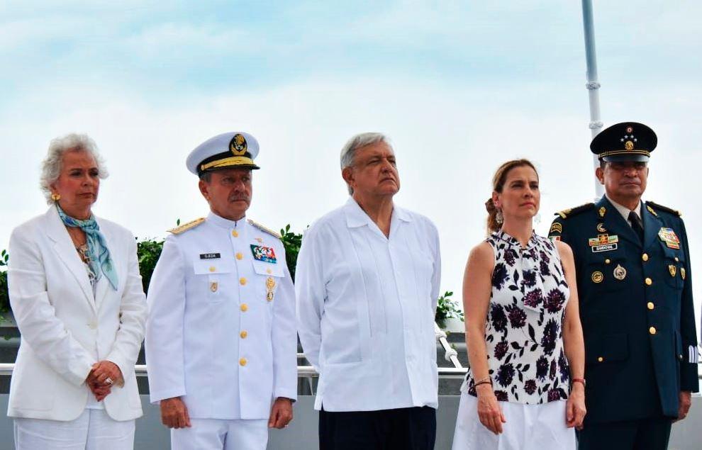 Foto: La celebración del Día de la Marina lo encabezó el presidente Andrés Manuel López Obrador, el 1 de junio de 2019 (Secretaría de Marina)