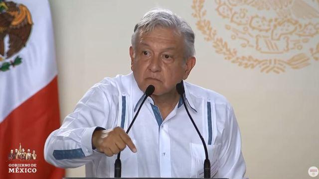 Foto: López Obrador ofreció disculpas a los estados del norte, centro y del Bajío, por priorizar el Tren Maya, el 22 de junio de 2019 (Gobierno de México)