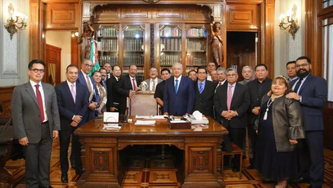 Foto: López Obrador en reunión con pastores de la Iglesia Evangélica, 21 de febrero de 2019, Ciudad de México