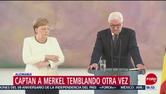 Angela Merkel es captada temblando de nuevo