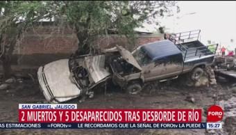 Foto: Aplican plan DN-III-E tras desbordamiento de río en Jalisco