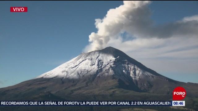 FOTO: Aumenta la actividad del volcán Popocatépetl, 29 Junio 2019