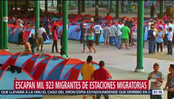 Foto: Cifra Migrantes Fugan Estacion Migratoria 20 Junio 2019