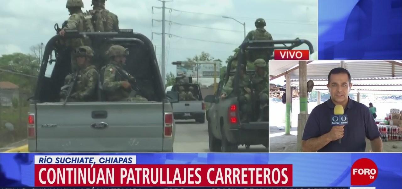 FOTO: Autoridades vigilan frontera de Chiapas por migrantes, 15 Junio 2019