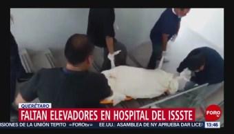 FOTO: Bajan a los cadáveres por las escaleras en ISSSTE de Querétaro