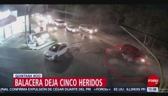 FOTO: Balacera deja cinco heridos en Quintana Roo