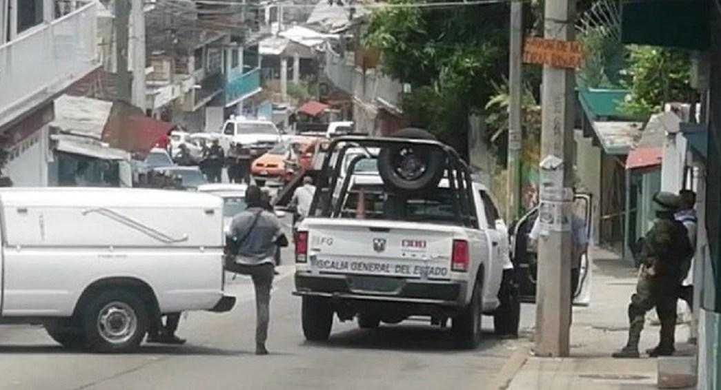 Foto: Balacera en colonia La Laja en Acapulco, Guerrero, 12 de junio 2019. Twitter @BajoPalabraGro