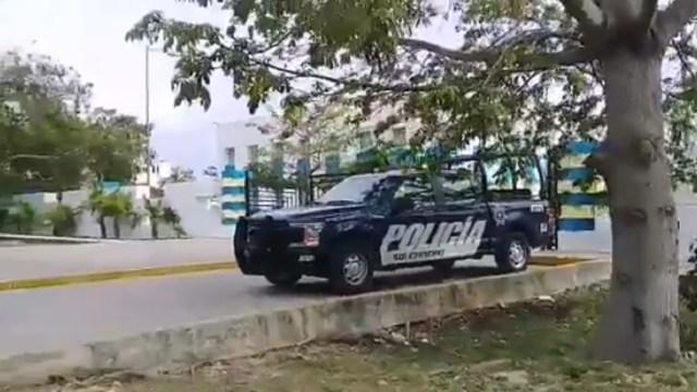 Foto: balacera en hospital de Playa del Carmen, 14 de junio 2019. Twitter @MacroRedQR