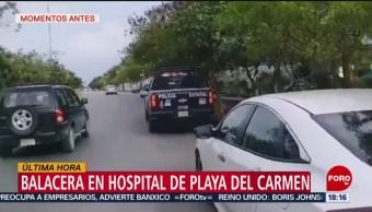 Foto: Balacera Hospital Playa Del Carmen Quintana Roo 14 Junio 2019