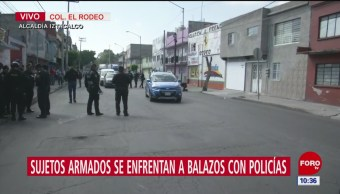 Balacera entre sujetos armados y policías en Iztacalco
