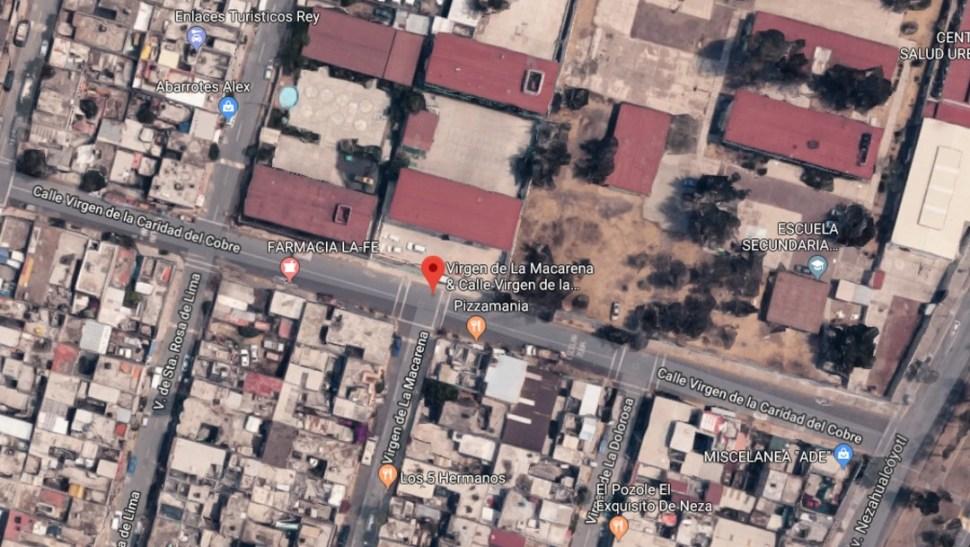 FOTO Balacera cerca de escuela en Neza deja un niño herido; mapa de la zona (Google Maps)