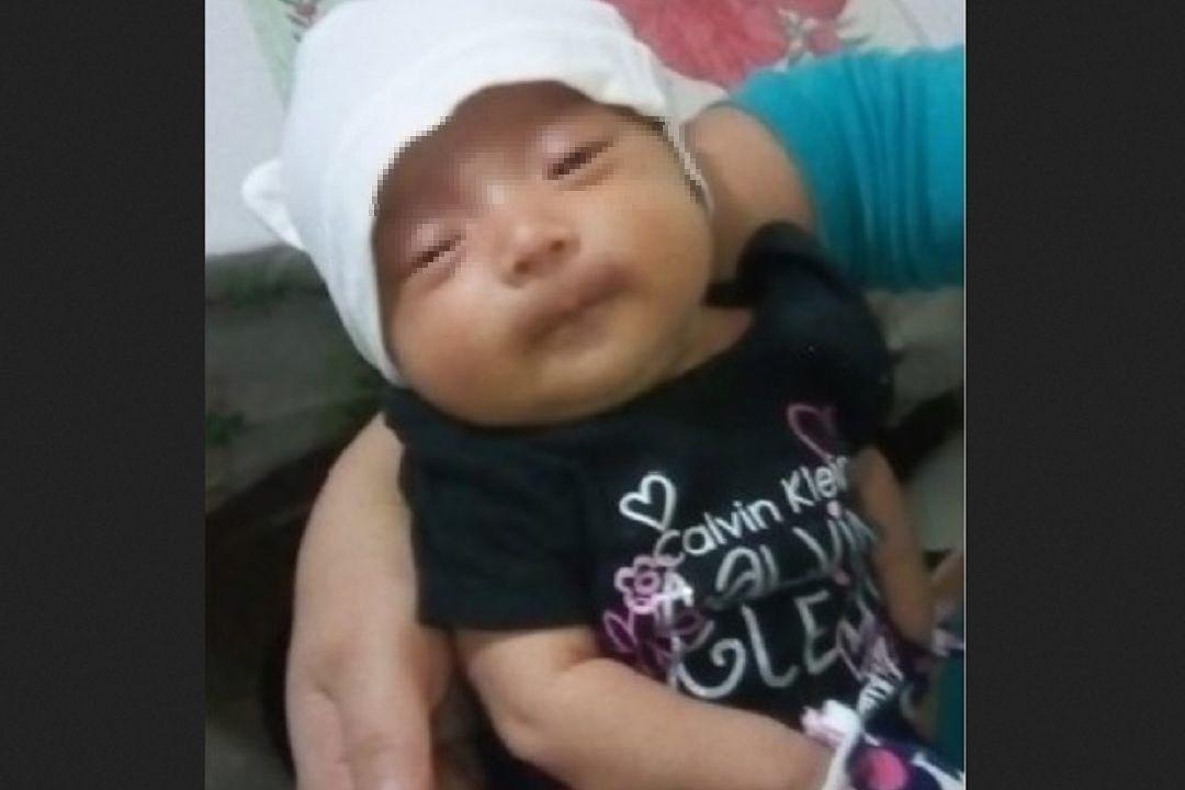 Foto: bebé robada en Naucalpan, 11 de junio 2019. Twitter @FiscaliaEdomex