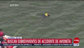 Buscan a sobrevivientes de accidente de avioneta en Florida, EU