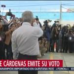 FOTO: Candidato a la gubernatura de Puebla, Enrique Cárdenas, emite su voto, 2 Junio 2019