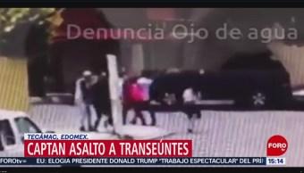 FOTO: Captan asalto a transeúntes en Tecámac, Edomex, 30 Junio 2019