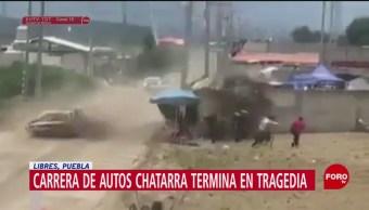 Foto: Carrera de autos termina en tragedia en Puebla