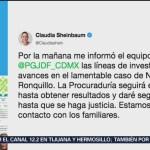 Caso Norberto Ronquillo tendrá seguimiento hasta lograr justicia, dice Sheinbaum