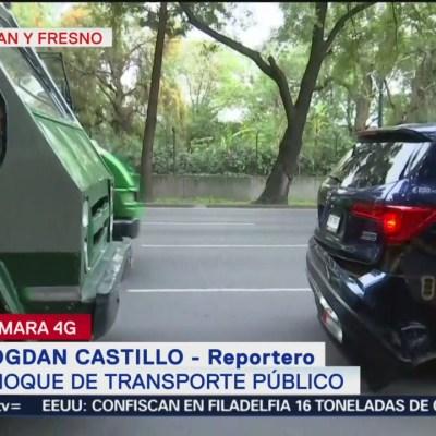 Choca microbús contra vehículo en calzada de Tlalpan