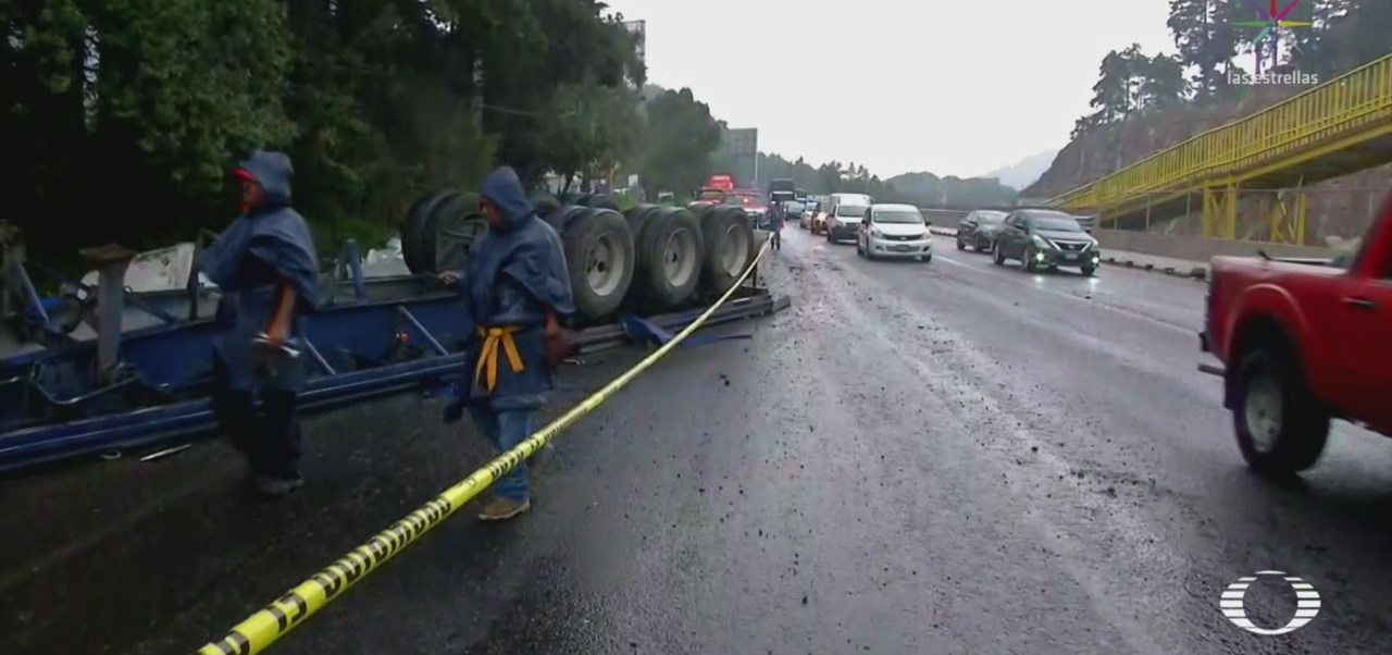 Foto: Chofer Tráiler Muere México-Toluca 19 Junio 2019