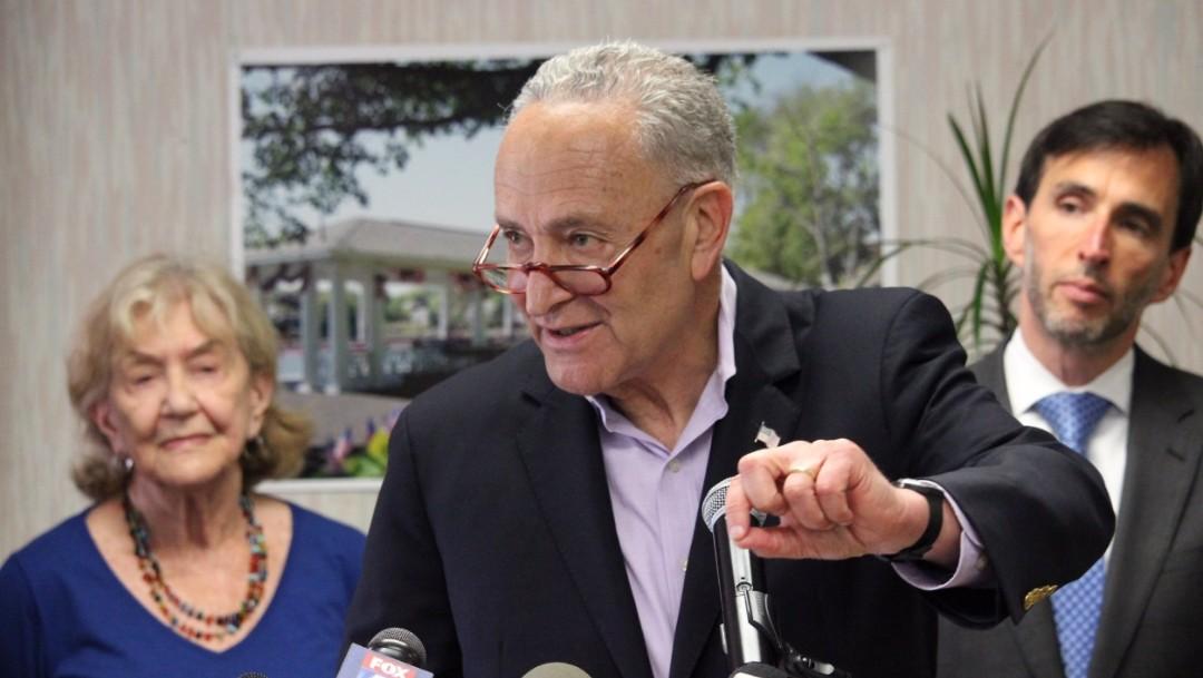 """FOTO: Demócratas califican de """"farsa"""" la primera jornada de juicio político a Trump, el 22 de enero de 2020"""