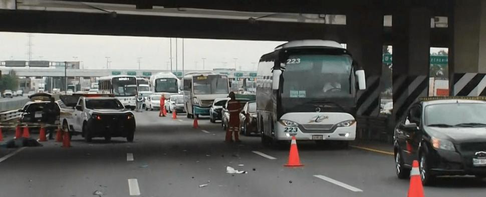 FOTO Ciclista atropellado por moto muere en la autopista México-Pachuca (FOROtv 13 junio 2019)