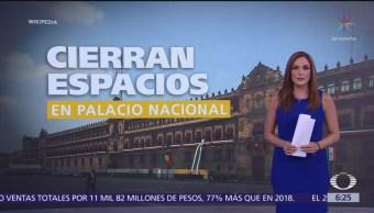 Cierran espacios en Palacio Nacional a turistas y ciudadanos