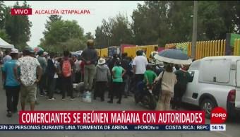 Foto: Comerciantes Iztapalapa Reubicación CDMX 7 Junio 2019