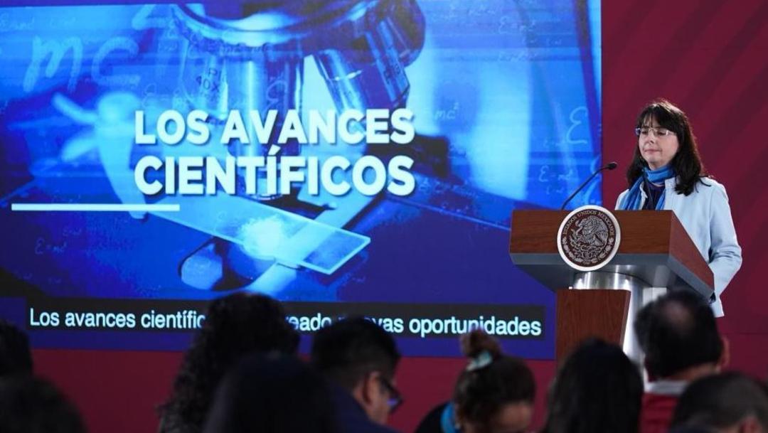 Foto: María Elena Álvarez-Buylla Roces, directora del Conacyt, ofrece una conferencia de prensa, 27 junio 2019