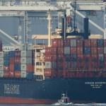 Foto: Barco de contenedores Horizon Enterprise, 14 de noviembre de 2018, California