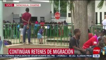FOTO: Continúa flujo migratorio de centroamericanos en Chiapas