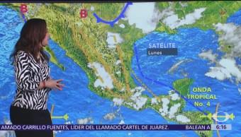 Continúan altas temperaturas y lluvias en la mayor parte de México