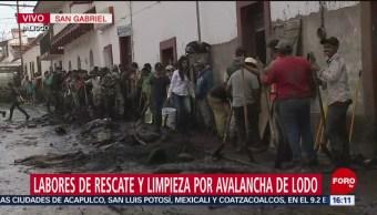 Foto: Continúan labores de rescate por avalancha de lodo en San Gabriel, Jalisco