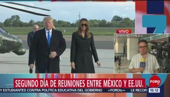 FOTO: Continúan las negociaciones de alto nivel entre México y Estados Unidos