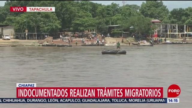 Foto: Cruce migratorio entre Chiapas y Guatemala sigue con normalidad